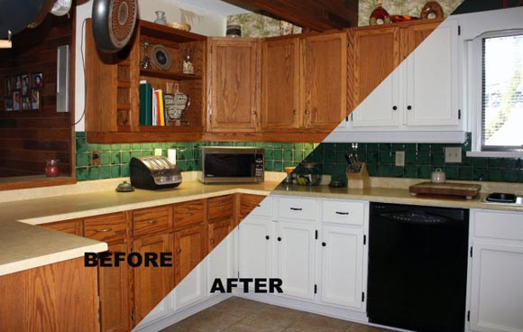 Cabinet Refinishing Refinishing Services Kansas City - Refinishing kitchen cabinets before and after