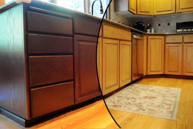 Cabinet refinishing refinishing services kansas city for Refinishing kitchen cabinets before and after